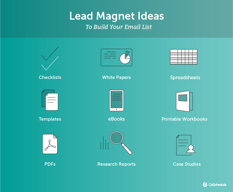 Lead Magnet Ideas to Build Your Email List