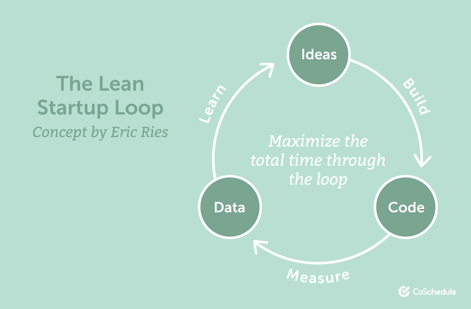 Here's what the lean startup loop looks like