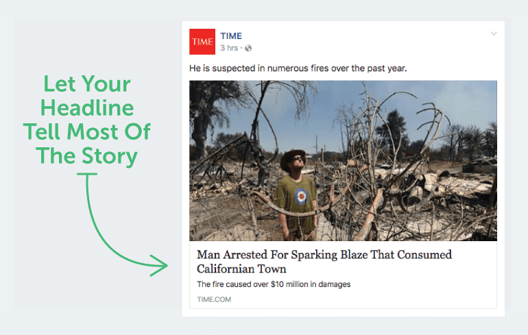 Let your headline tell most of the story