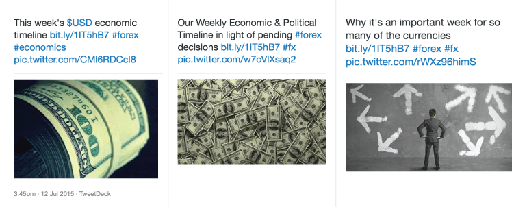 Example of the same link being shared multiple times