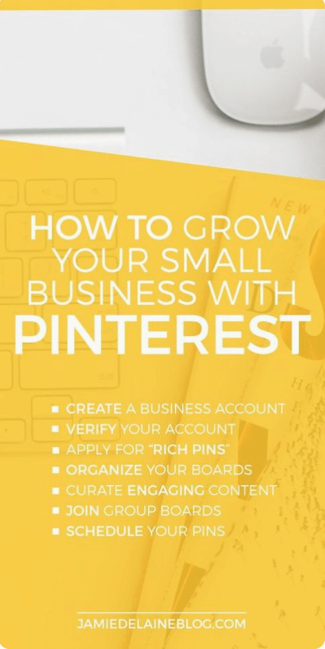 Example of a long Pinterest image