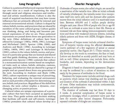 Long Vs. Short Paragraphs
