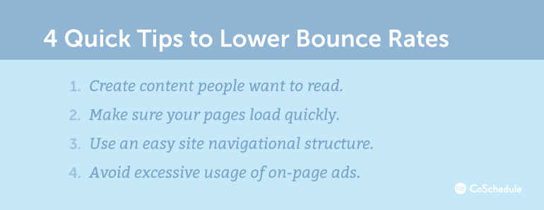 3 Quick Tips to Lower Bounce Rates