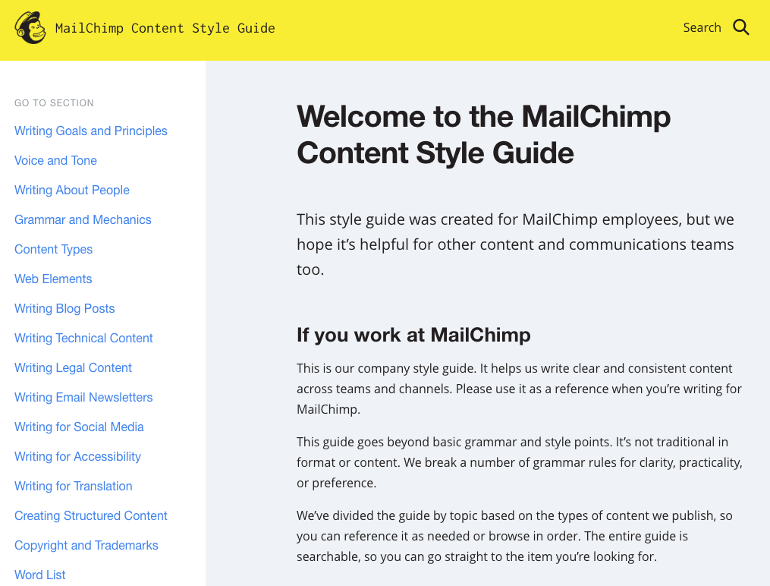 MailChimp's Style Guide