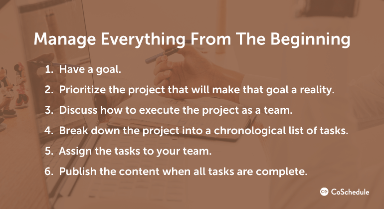 Manage Everything from the Beginning
