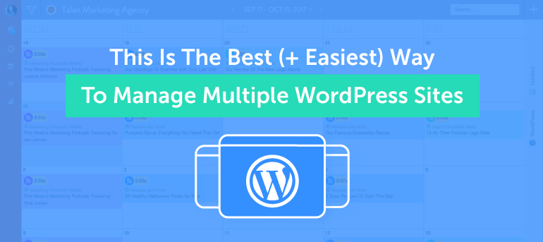 The Best + Easiest Way to Manage Multiple WordPress Sites