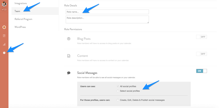 manage social media account access with CoSchedule