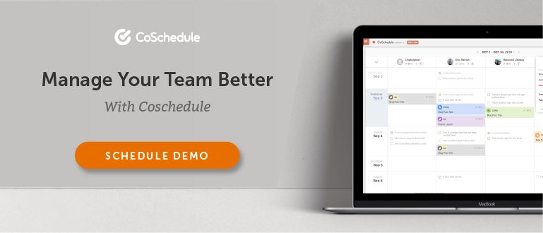 Schedule a CoSchedule Demo Today