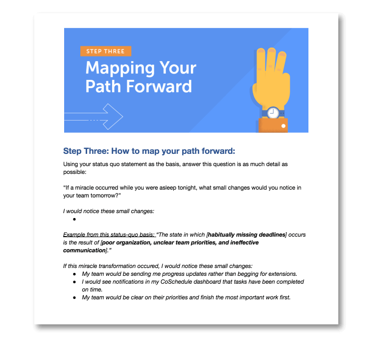 Step Three: Mapping Your Path Forward