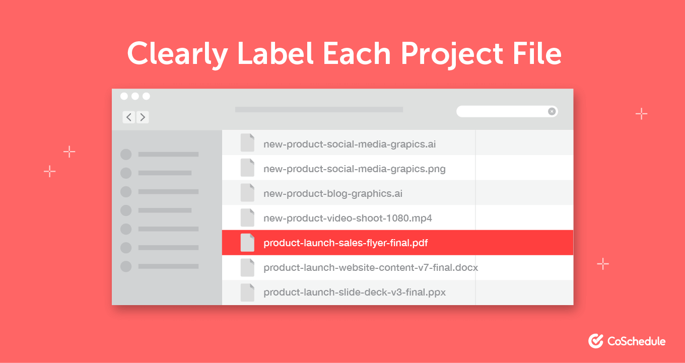 Demonstration of labeling project files