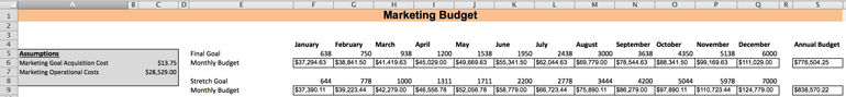 Marketing Budget Goal Driven Marketing Strategy