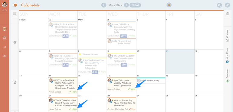 marketing collaboration software in CoSchedule