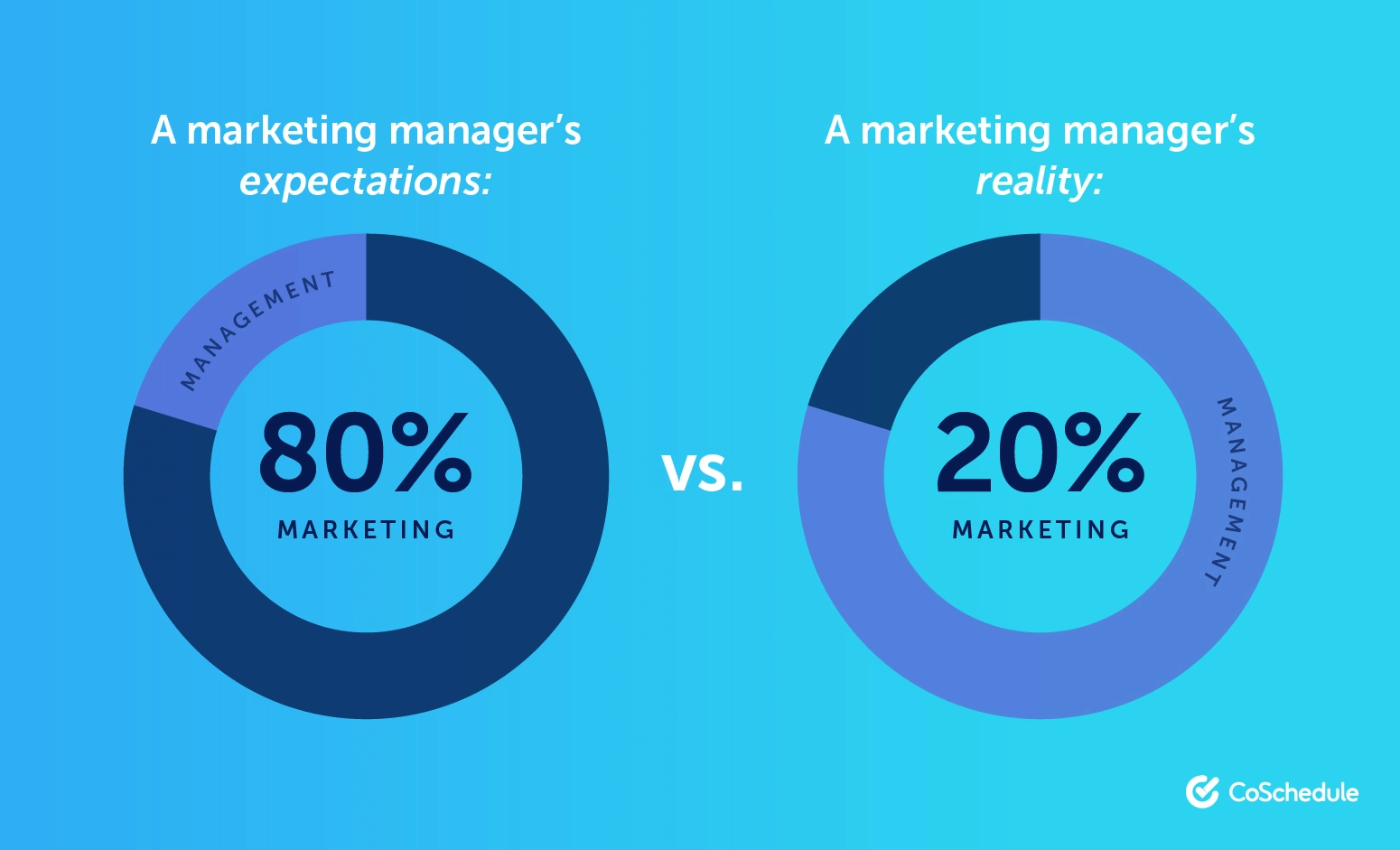 A marketing manager's expectations vs reality