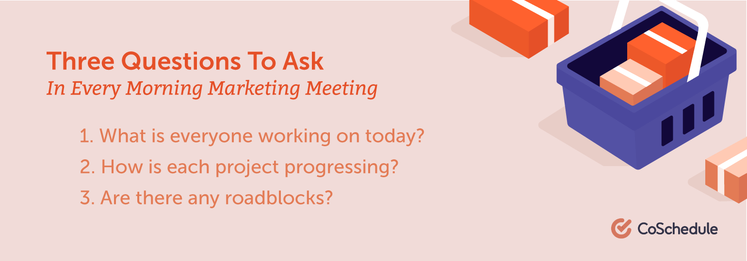 Three Questions to Ask in Every Morning Marketing Meeting