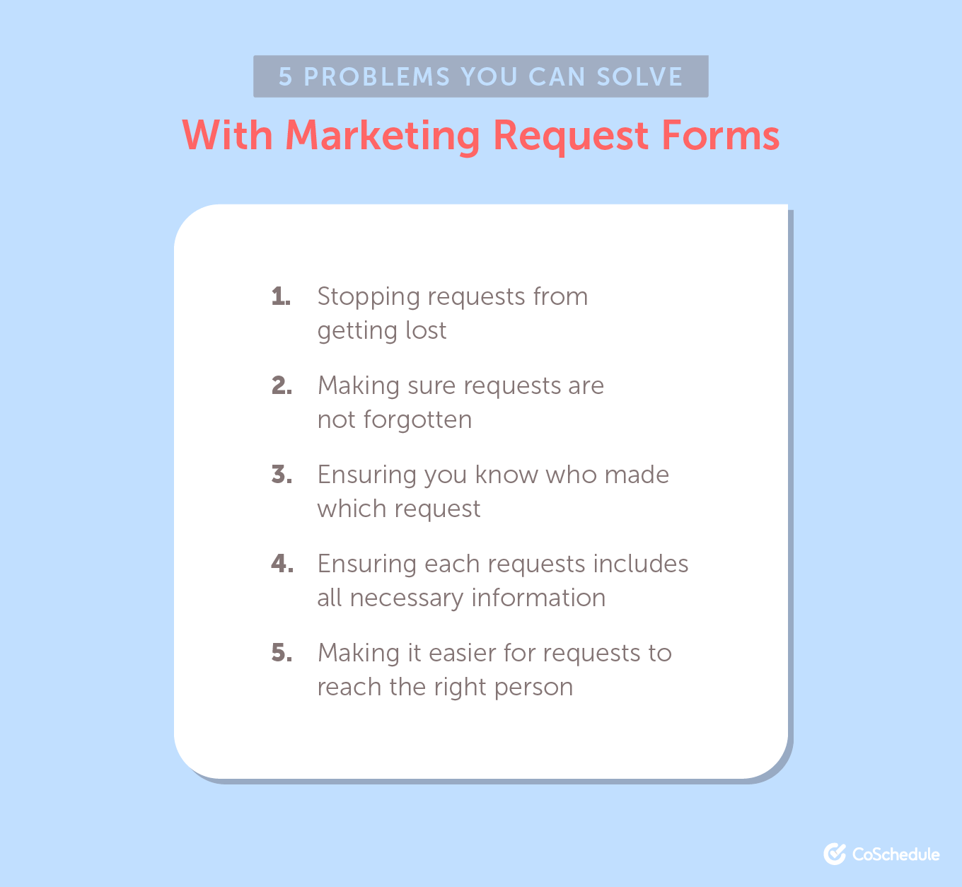 5 Problems You Can Solve With a Marketing Request Form