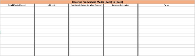 Metrics Tracking Sheet