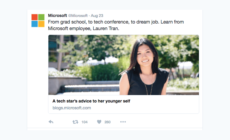 Write tweets that don't just reshare headlines