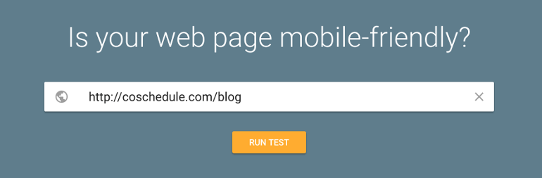 Enter URL into the Mobile-Friendly Test Tool