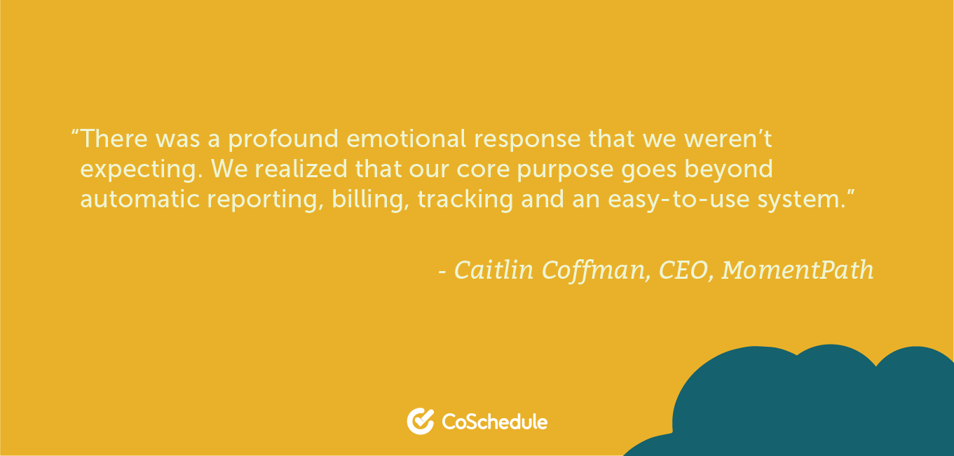 Quote from MomentPath about core purpose