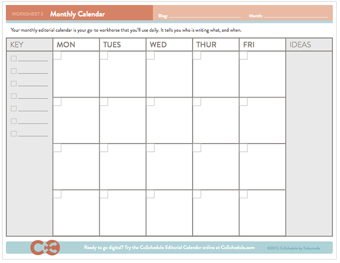 Schedule Of Events Template | Free Editorial Calendar Template