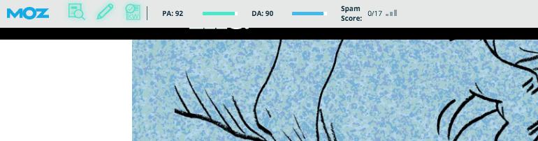 Screenshot of the Moz Bar