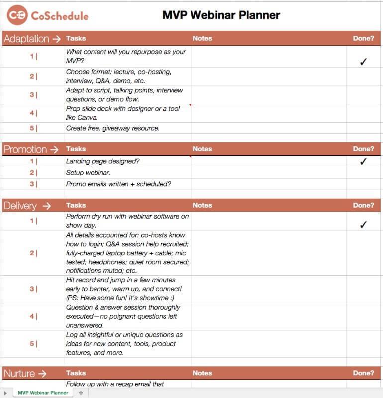 MVP Webinar Planner