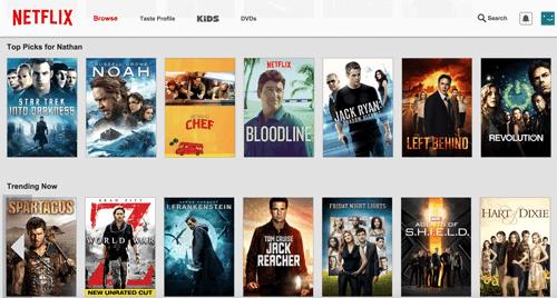 Netflix curates content example