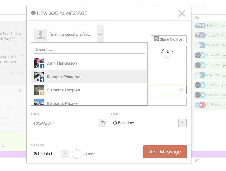 Add a new social message