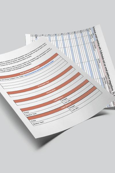 Newsletter Template + Email Calendar Bundle