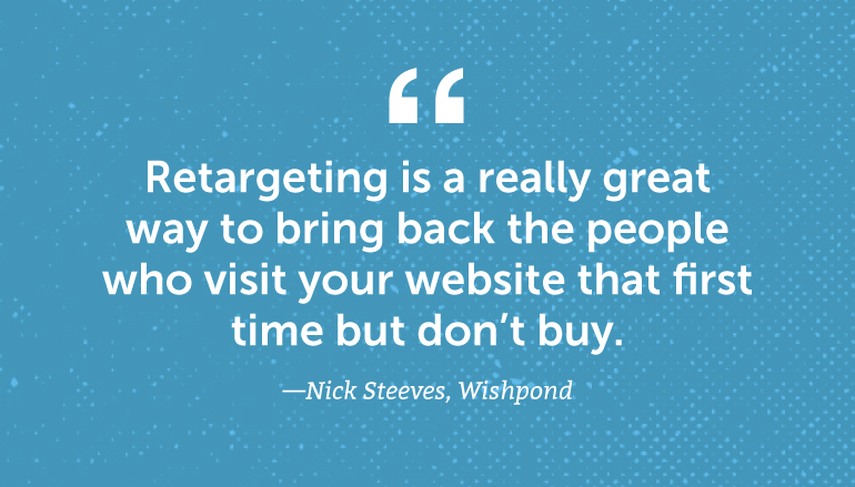 Retargeting is a great way to bring back the people ...