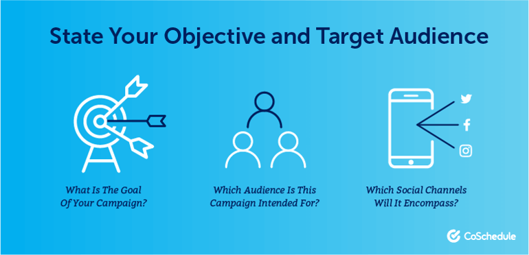 State Your Objective and Target Audience