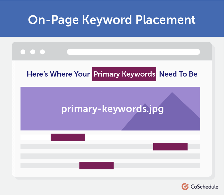Where Your Primary Keyword Should Be Placed