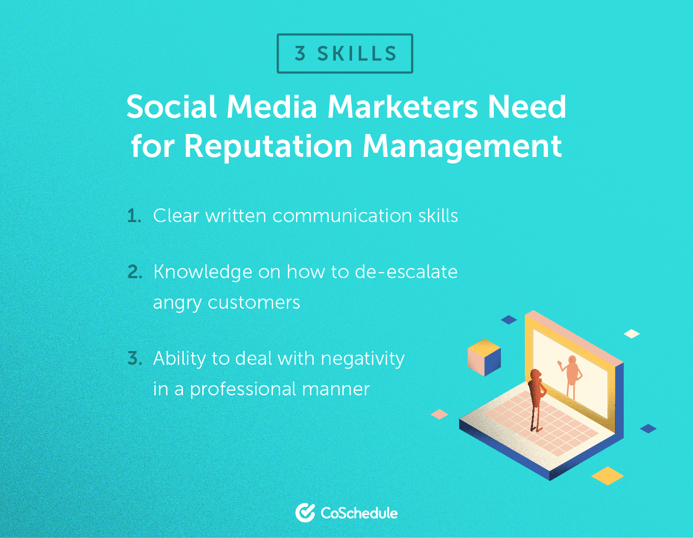 3 skills social media marketers need for reputation management (list)