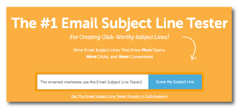 Open the Email Subject Line Tester