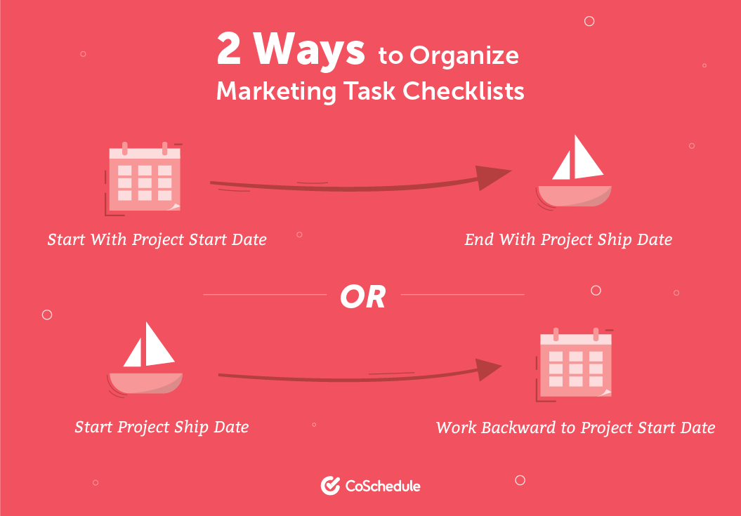 2 Ways to Organize Marketing Task Checklists