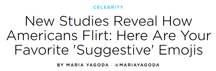 Example of a headline from People