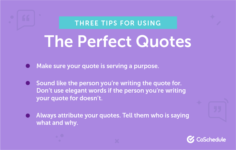 How to Use the Perfect Quotes