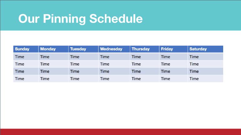 Pinterest Marketing Strategy: Pinning Schedule