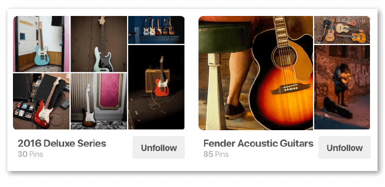Examples of Pinterest Board Covers