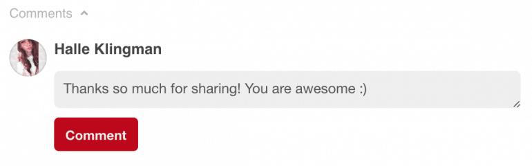 Say thanks for sharing on Pinterest