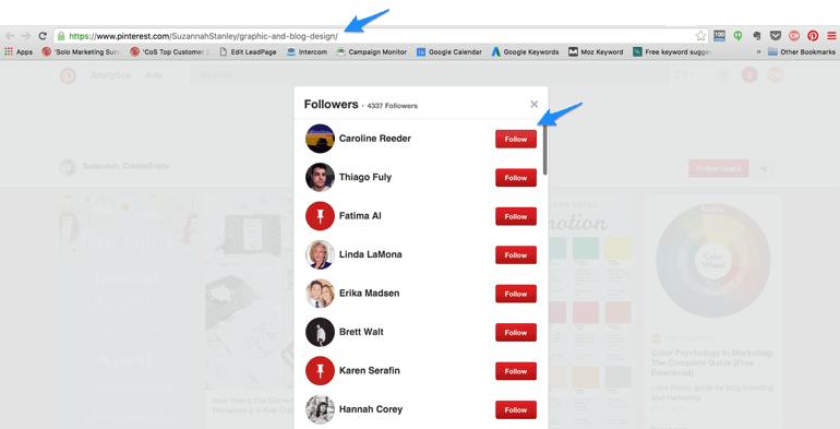 find Pinterest followers from popular boards