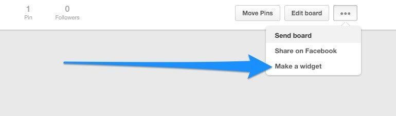 Make a Widget button location screenshot