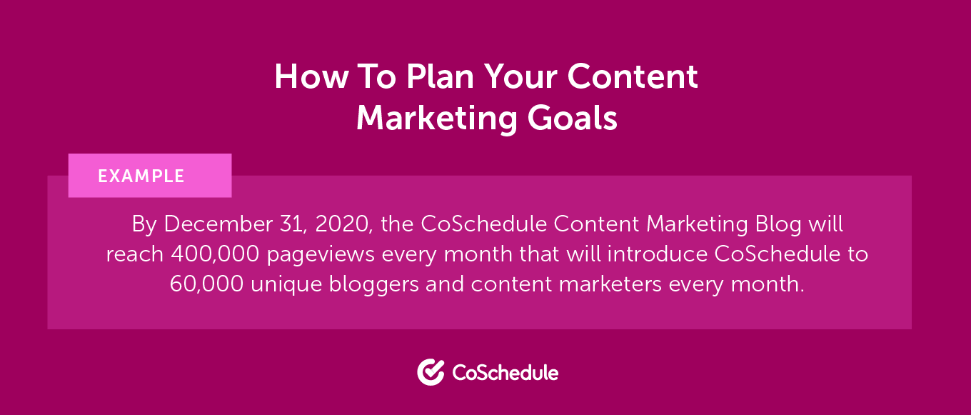 How to Plan Your Content Marketing Goals