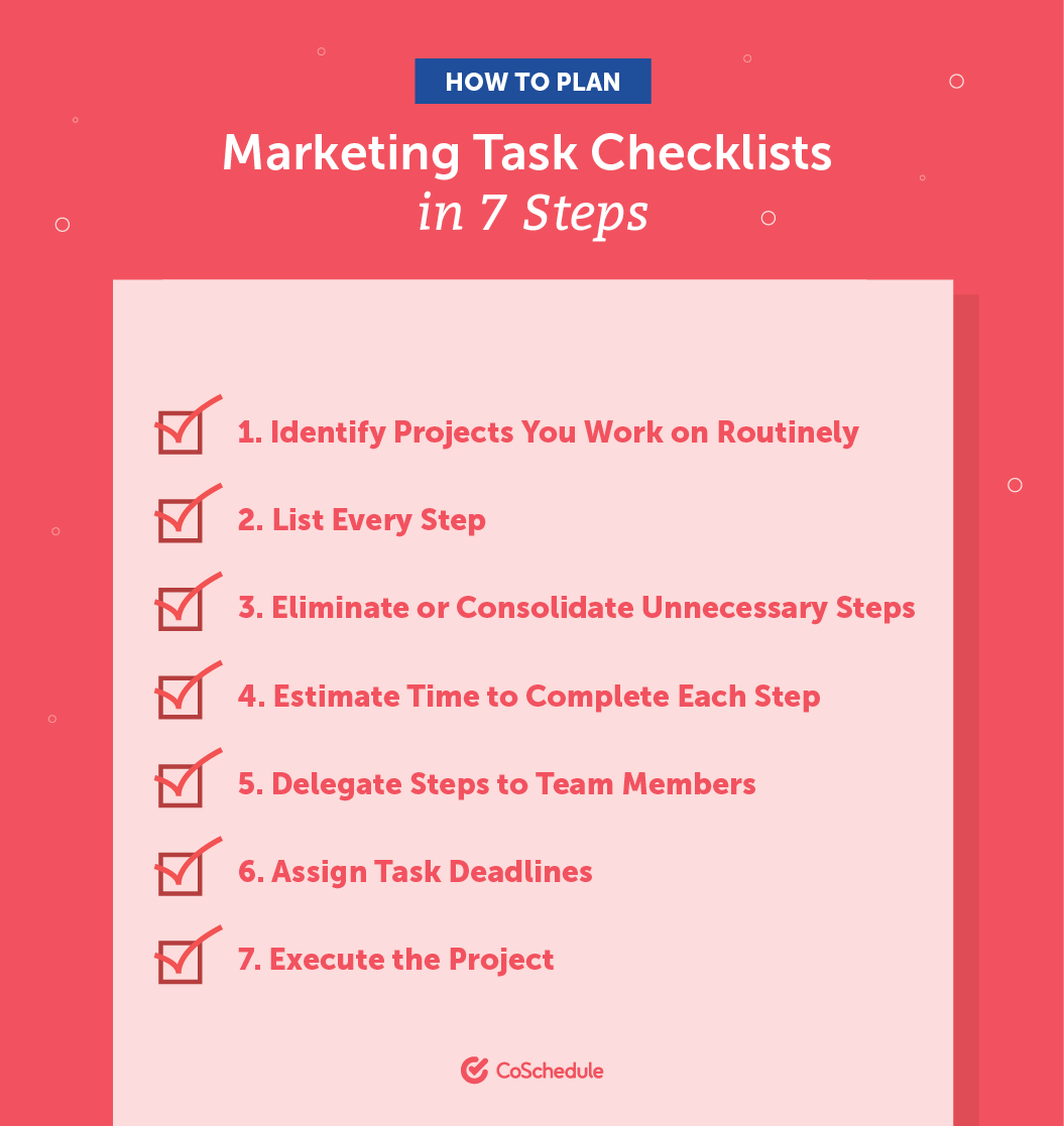 How to Plan Marketing Task Checklists in 7 Steps