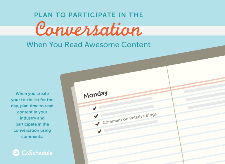 plan time to participate in blog comments when you read awesome content