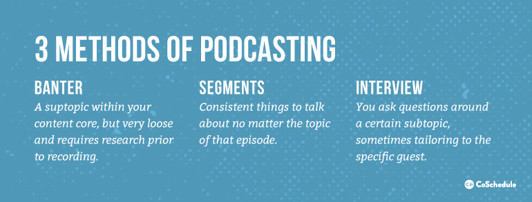 3 Methods of Podcasting