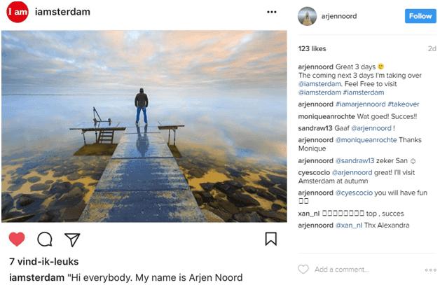 Instagram influencer post example