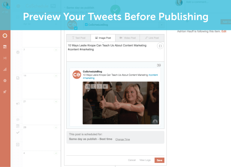 Preview Tweets Before Publishing