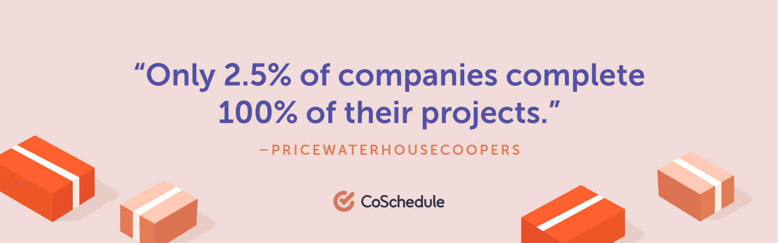 Only 2.5% of companies complete 100% of their projects.