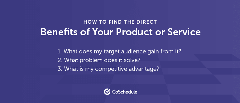How to find you product benefits